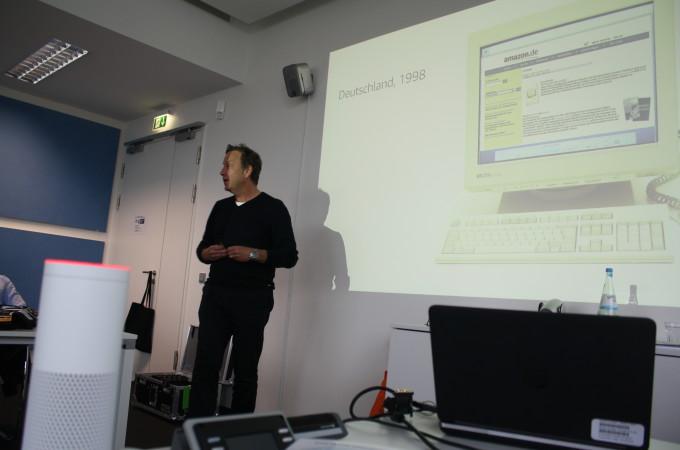 Ralf Kleber, Country-Manager Deutschland, stellt Amazon vor.